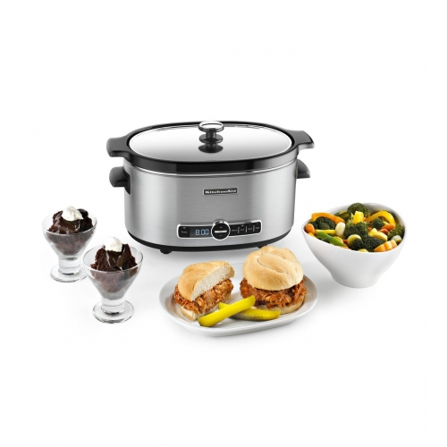 Kitchenaid Ksc6223ss 6 Quart Slow Cooker With Solid Glass Lid